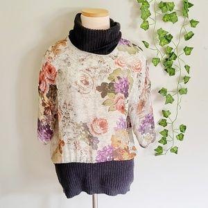 Gorgeous Floral Zara Translucent Sweater Top
